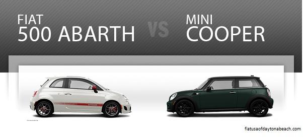 fiat vs mini cooper